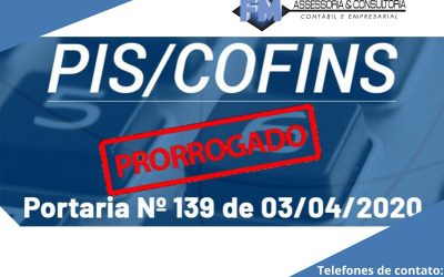 Cofins/PIS-Pasep – Prorrogados os prazos de recolhimento das contribuições